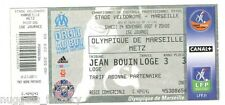 Billet  / Place  OM Olympique de Marseille - OM vs Metz  ( 047  )