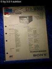 Sony Service Manual STR W555 Receiver  (#5016)
