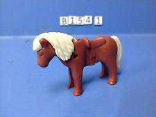 (B154.1) playmobil poney marron rouge et beige Poney Ranch 5221 4190 4343 3120