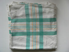 Vintage Crisp Linen Woven Check Picnic Hamper Table Cloth Fishing Classic Tea