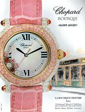 ▬► PUBLICITE ADVERTISING AD MONTRE WATCH CHOPARD Boutique happy sport