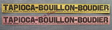 Publicité TAPIOCA BOUILLON BOUDIER POTAGE GRAS  advert 1898