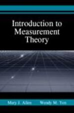 Introduction to Measurement Theory Mary J. Allen, Wendy M. Yen Books-Acceptable