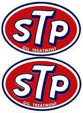 """STP Racing Decals Stickers 6-7/8"""" Long Size Set of 2 Vintage from 80's Fender"""