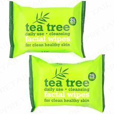 50 x AUSTRALIAN TEA TREE CLEANSING WIPES DAILY USE Facial Face Make Up Removal