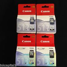 2 x PG-512 & 2 x CL-513 Original OEM Inkjet Cartridges For Canon MP270, MP 270