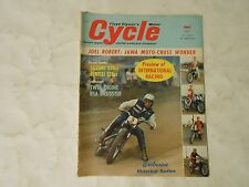 APRIL 1965 CYCLE MAGAZINE,JOEL ROPERT JAWA RACER,SUZUKI 250 BENELLI 125,BSA DRAG