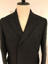VTG Brooks Brothers 100% Wool Men's Overcoat Car Jacket Made USA Sz 36 Small EUC