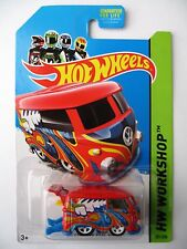 Hot Wheels VOLKSWAGEN KOOL KOMBI -Red variant 2014 HW Workshop Garage surf bus