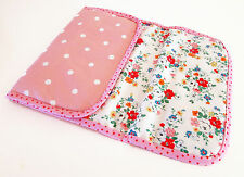 Foldable baby travel changing mat for bag - Cath Kidston Clifton Rose Oilcloth