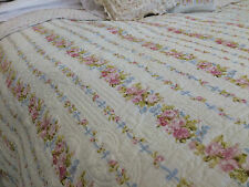 SHABBY CHIC DITSY FLORAL KING SIZE PATCHWORK QUILT 100% COTTON REVERSIBLE
