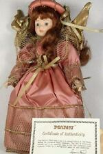 "Connisseur Seymour Mann Doll Porcelain 'Love Angel' W/Pink 15.5"" tall With COA!"