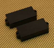 PC-8951-023 (2) Black No Hole Bass Pickup Covers For Fender P Precision  Bass