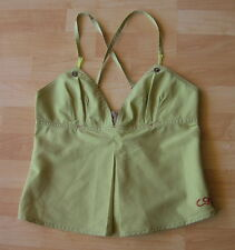COP COPINE Stunning Cross Spaghetti Strap Pleated Top Blouse Size 40 EXCELLENT