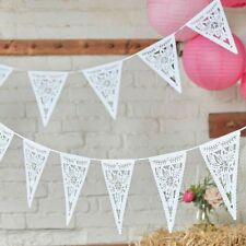 Boho florales de blancos di Corte bunting/garland wedding/afternoon tea/party Decoración