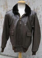 Vintage 70S Usn G-1 Brown Leather Flight Jacket Super Clean Sz 44 Large Us Navy