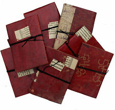 "5"" Vintage Handmade Reclaimed Antique Retro Leather Sketchbook Diary Journal"