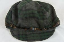 August Hat Sz OS One Size Green Multi Newsboy Wild 4 Plaid Mod Cap Style 15010
