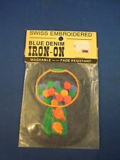 Vintage Blue Denim Green Gumball Candy Machine Iron On Patch Sealed