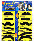 120 Moustaches 10 x packs of 12 Assorted Fake Mustache Fancy Dress Party