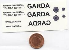 * 11 x waterslide decal idéal pour code 3 irish police garda models échelle 1/43