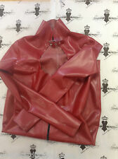 R527 **DESIGNED+MADE IN UK* LATEX Rubber DRESS *PS RED* Westward Bound £179 16