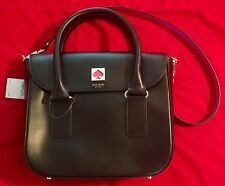 Kate Spade New Bond Street Flo BLACK Leather Cross Body Bag MSRP $448 NWT