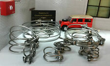 Land Rover Series 3 Petrol Engine Radiator Hose Heater Stainless Wire Clamp Set
