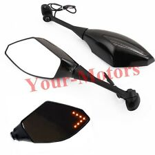 MOTORCYCLE LED TURN SIGNAL INDICATOR REARVIEW MIRRORS FOR SUZUKI GSXR SPORT BIKE