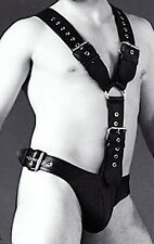 MENS LEATHER CHEST HARNESS GAY Men's Black Leather Harness 38,40,42,44,46 TO 60