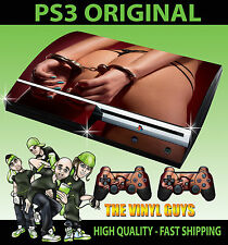 PLAYSTATION PS3 ORIGINAL STICKER HOT BOOTY HAND CUFFS SEXY SKIN & 2 PAD SKINS