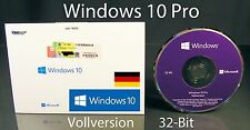 Microsoft Windows 10 Pro Vollversion SB 32-Bit mit Hologramm-DVD DE OVP NEU