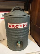 Vintage Galvanized ARTIC Water Cooler  3Gal. Early Retro Mancave Ratrod