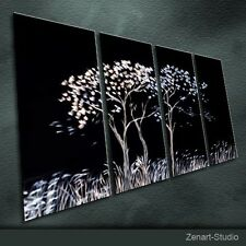 Original Metal Wall Art Abstract Handmade Painting Indoor Outdoor Decor-Zenart