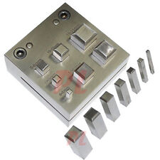 SQUARE Shape 4 - 16 mm DISC CUTTER Metal Craft Hole Puncher Punches 3/16 - 5/8""