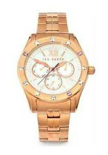 Ted Baker TE4068 Mother Of Pearl Chronograph Dial Watch Rose Gold $180
