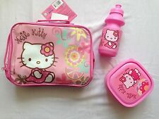 Hello Kitty Girls Pack Lunch Sandwich Box And Bottle Set Case Kids
