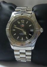 TAG Heuer Professional 2000 Series 200M Watch WK1110-0 Black Dial 37mm