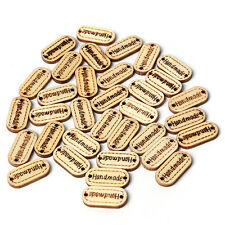 300pcs Hotsell Letter Handmade Carved Wooden Buttons Charms Crafts Two Holes LC