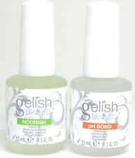 Harmony Gelish Gel Nail Polish Nourish Cuticle Oil & PH Bond 0.5 oz Each