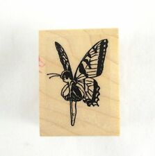Butterfly Fairy Rubber Stamp Wood Mount Pixie Sprite Fantasy Fairytale Fairyland
