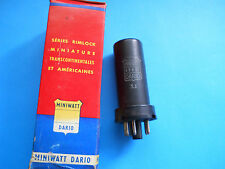 1 x VINTAGE NIB 6V6GT METAL MINIWATT-DARIO MADE IN U.S.A. USED TESTED