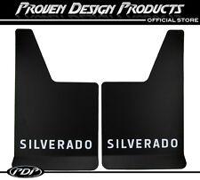 Chevrolet Silverado 1500 HD, 2500 HD Mud Flaps, Chevy Silverado MUDFLAPS_ WHITE