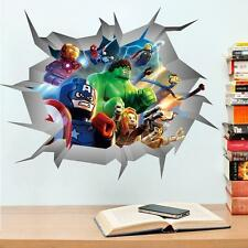 LEGO Movie avengers Adesivo Parete Arte Decalcomanie per Baby Nursery KID Room HOME Deco