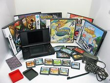 Nintendo DS Lite Cobalt LOT with 20 Games incl Pokemon Diamond Ranger Dash