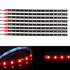 8pcs Red LED Strip Lights Interior Glow Neon Lighting Car Truck SUV 30CM 15SMD
