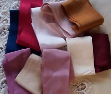 "100% PURE SILK RIBBON 2"" [50MM] 10 YARD ASSORTMENT ~FINAL LOTS~"
