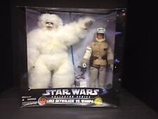 "1997 STAR WARS COLLECTOR SERIES 12"" LUKE VS WAMPA ACTION FIGURE SET KENNER S8"
