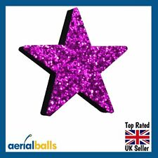 Electric Purple Stardust Glitter STAR Car Aerial Ball Antenna Topper