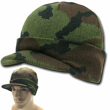 Military Camouflage Camo Digital Beanie Beanies GI Jeep Knit Watch Cap Caps Hats